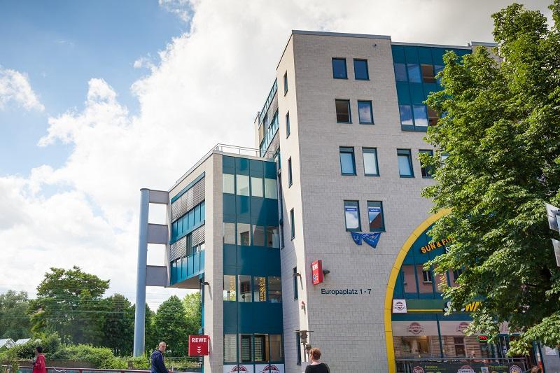 Der Bürokomplex auf dem Europaplatz 3 in Tübingen.