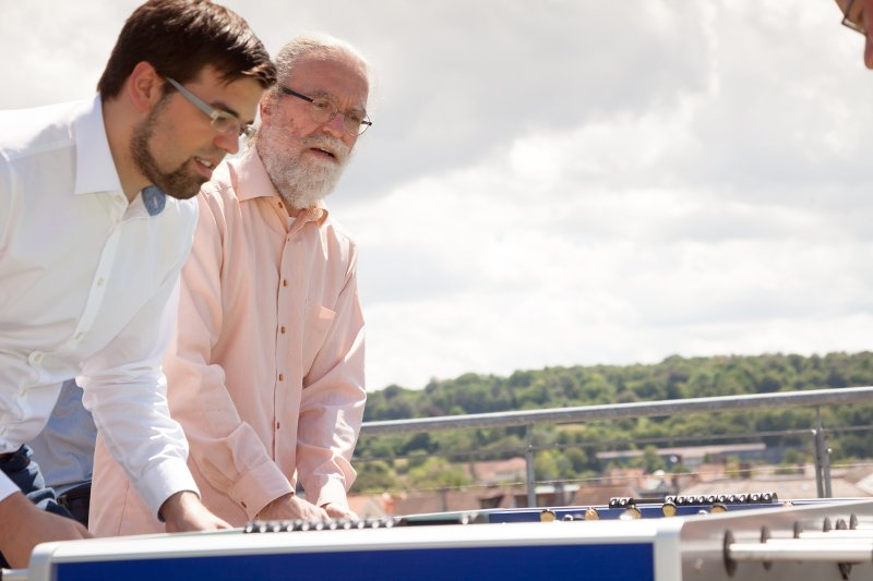 Peter Gietz auf der Dachterasse der DAASI International