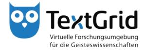 Logo: virtuelle Forschungsumgebung TextGrid