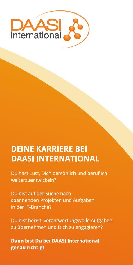 Cover Karriereflyer der DAASI International