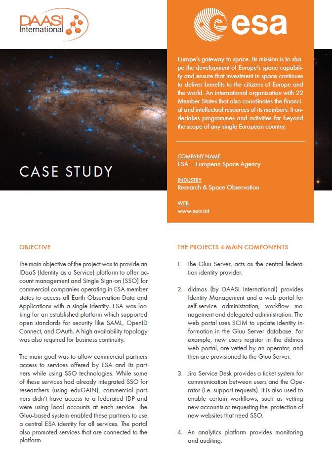 Preview ESA Case Study