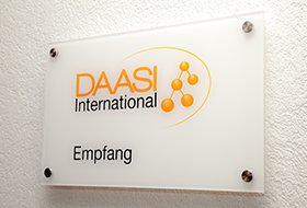 Photo: Door sign of DAASI International