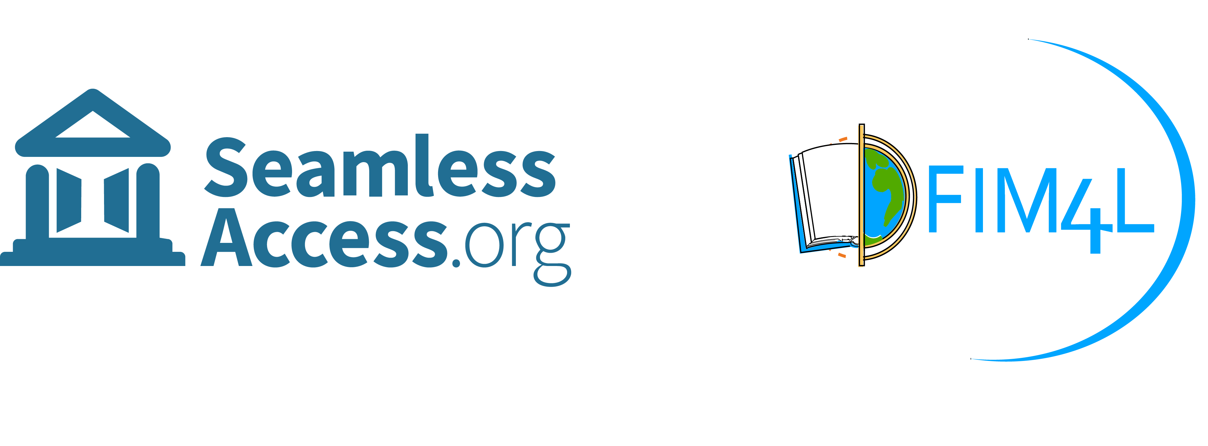 Logos (from left to right): SeamlessAccess.org and FIM4L