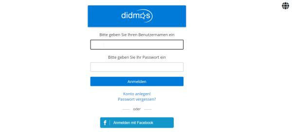 Screenshot Registration didmos Demo